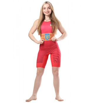 Singlet Wrestler Berserk Womens approved UWW red